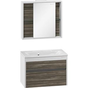 Мебель для ванной Edelform Белль 80 белый макассар