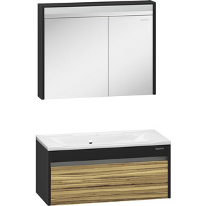 Мебель для ванной Edelform Карино 100 черный эбони тумба под раковину edelform карино 59 2x45 5 черный эбони 35644