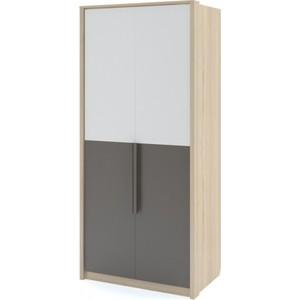 Шкаф 2-х дверный Комфорт - S Arvo Веса М 7 туя/белый/шоколад