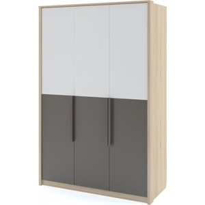 Шкаф 3-х дверный Комфорт - S Arvo Веса М 8 туя/белый/шоколад