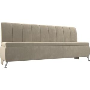 Кухонный прямой диван АртМебель Кантри вельвет бежевый