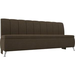 Кухонный прямой диван АртМебель Кантри рогожка коричневый