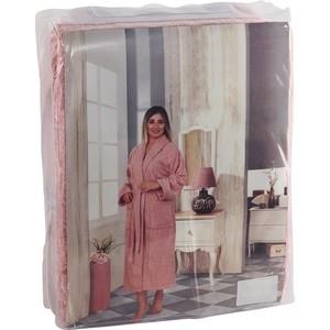 Халат женский Karna хлопок Basic S (3043/CHAR001) Грязно-розовый