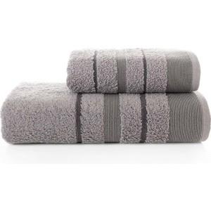 Набор из 2 полотенец Karna Regal Set (50X90/70X140) (3093/CHAR010) Серый набор из 2 полотенец karna patara 50x90 70x140 3235 char001 серый