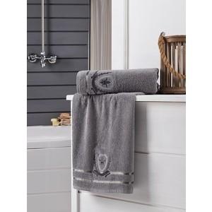 Набор из 2 полотенец Karna Patara (50X90/70X140) (3235/CHAR001) Серый полотенце ecotex джаз 50x90 серый jt 01 m серый charcoal