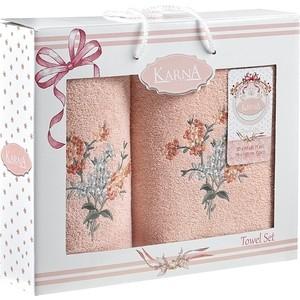 Набор из 2 полотенец Karna Violin (50X90/70X140) (3236/CHAR003) Розовый