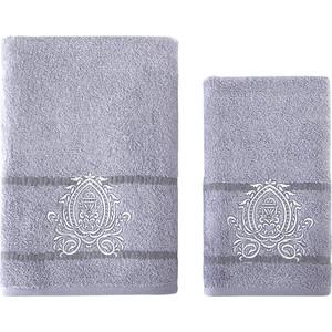 Набор из 2 полотенец Karna Davin (50X90/70X140) (3241/CHAR004) Серый набор из 2 полотенец karna patara 50x90 70x140 3235 char001 серый