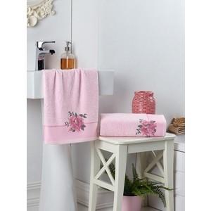 Набор из 2 полотенец Karna Florya (50X90/70X140) (3242/CHAR004) Розовый