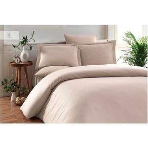 Комплект постельного белья Karna Евро, бамбук/хлопок, Ruya (3092/CHAR001) Бежевый