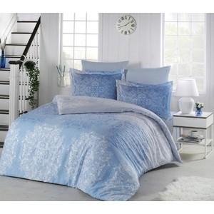 Комплект постельного белья Altinbasak Евро, хлопок, Halley (255/2/85/CHAR002) Голубой