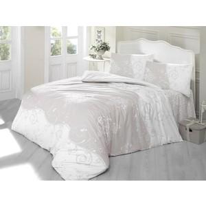 Комплект постельного белья Ranforce Евро, хлопок, Melina (297/63/CHAR003) Светло-Кофейный