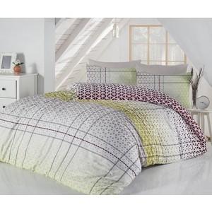 Комплект постельного белья Ranforce Евро, хлопок, Saye (297/69/CHAR001) Зеленый