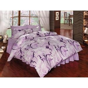 Комплект постельного белья Ranforce Евро, хлопок, Victoria (297/73/CHAR001) Сиреневый