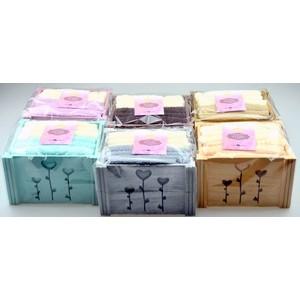 Набор кухонных полотенец 6 штук Karna Flori (30X50) (5113/CHAR002) Светло-Кофейный