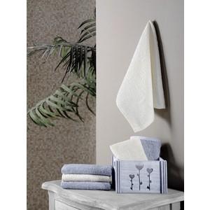 Набор кухонных полотенец 6 штук Karna Flori (30X50) (5113/CHAR001) Светло-Серый