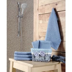 Набор кухонных полотенец 6 штук Karna Pruva (30X30) (5114/CHAR002) Голубой