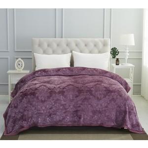 Плед Karna вельсофт жаккард Darvin 220x240 см (5116/CHAR003) Фиолетовый
