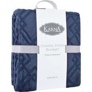 Плед Karna вельсофт жаккард Piramit 160x220 см (5118/CHAR001) Серый