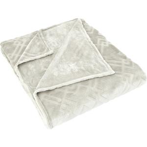 Плед Karna вельсофт жаккард Piramit 220x240 см (5119/CHAR003) Кремовый