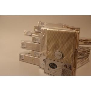 Скатерть Karna 50% хлопок полизстер Linen 160X220 пряумогольная (3010/CHAR008) V4