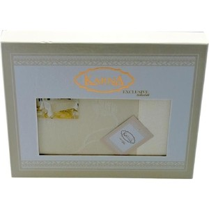 Скатерть Karna 60% хлопок 40% полиестер Neo Coton 160X300 пряумогольная (3016/CHAR002) Белый цена и фото
