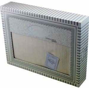 Скатерть Karna 50% хлопок полизстер Honey 160X300 пряумогольная (3020/CHAR003) Кремовый