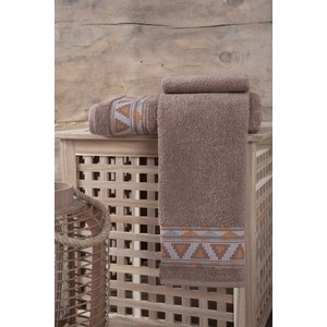 Полотенце Karna Giza (70X140) (3194/CHAR004) Коричневый