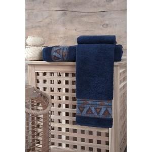 Полотенце Karna Giza (70X140) (3194/CHAR002) Синий