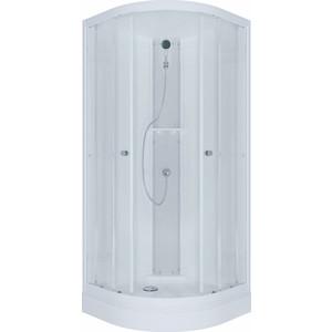 Душевая кабина Triton Гидрус ДН Эко 90x90 задние стенки белые, стекла лен (Щ0000021287) цена