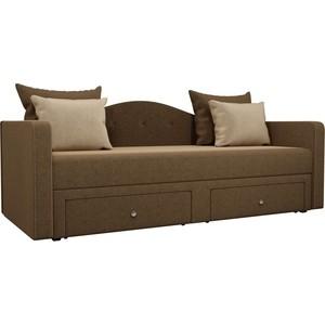 Детский прямой диван АртМебель Дориан вельвет коричневый прямой детский диван артмебель сойер вельвет коричневый