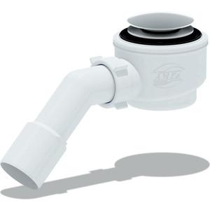 Сифон для душевого поддона АНИ пласт 1 1/2х50 с переходной трубой 45° 40/50 хром, Клик-клак (грибок-сетка) (E411CLGS)