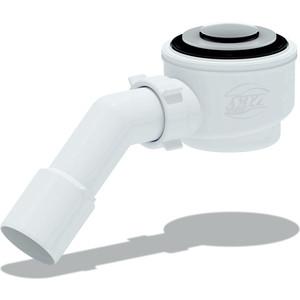 Сифон для душевого поддона АНИ пласт 1 1/2х50 с переходной трубой 45° 40/50 хром, Клик-клак (сетка) (E411CLS)