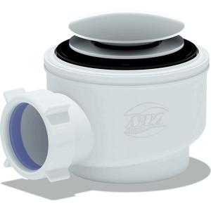 Сифон для душевого поддона АНИ пласт 1 1/2х50/60 хром, Клик-клак (грибок-сетка) (E410CLGS)