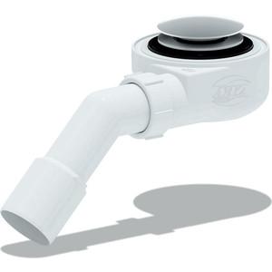 Сифон для душевого поддона АНИ пласт 1 1/2х60 h 53 мм, Клик-клак, с переходной трубой 45° 40/50, ( грибок-сетка) (E451CLGS)