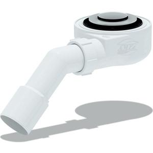 Сифон для душевого поддона АНИ пласт 1 1/2х60 h 53 мм, Клик-клак, с переходной трубой 45° 40/50, (сетка) (E451CLS)