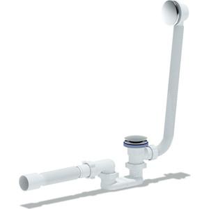 Слив-перелив АНИ пласт плоский Клик-клак, с гибкой трубой (грибок-сетка) (EC055GS)