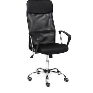 Кресло TetChair PRACTIC кож/зам, ткань, черный