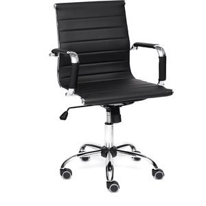 Кресло TetChair URBAN-LOW кож/зам, черный кресло tetchair iwheel кож зам черный красный