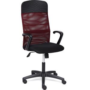 Кресло TetChair BASIC ткань/кож/зам, черный/бордо, TW-11/W-13/36-6/06 кресло tetchair runner кож зам ткань черный оранжевый 36 6 tw 07 tw 12