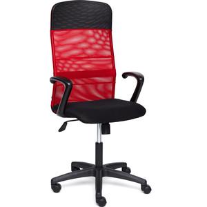 Кресло TetChair BASIC ткань/кож/зам, черный/красный, TW-11/W-08/36-6/06 кресло tetchair runner кож зам ткань черный оранжевый 36 6 tw 07 tw 12
