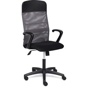 Кресло TetChair BASIC ткань/кож/зам, черный/серый, TW-11/W-12/36-6/06 кресло tetchair runner кож зам ткань черный оранжевый 36 6 tw 07 tw 12
