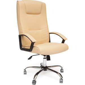 Кресло TetChair MAXIMA хром, кож/зам, бежевый, 36-34
