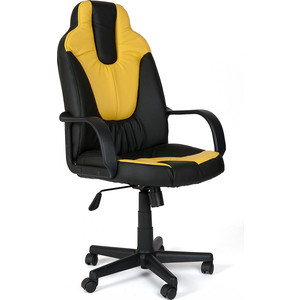 Кресло TetChair NEO (1) кож/зам, черный/жёлтый, 36-6/36-14 цены онлайн