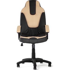 где купить Кресло TetChair NEO (2) кож/зам, черный/бежевый, 36-6/36-34 дешево