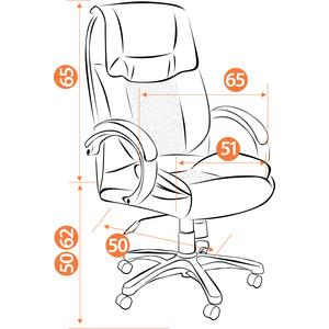 Кресло TetChair OREON кож/зам, коричневый/коричневый перфорированный, 2 TONE/2 TONE/06
