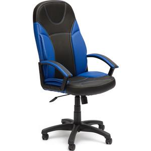 Кресло TetChair TWISTER кож/зам, черный/синий, 36-6/36-39