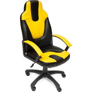 Кресло TetChair СН833 кож/зам, черный, 36-6 кресло tetchair runner кож зам ткань черный жёлтый 36 6 tw27 tw 12