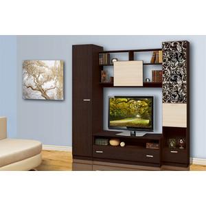 Набор мебели Олимп Магна - 2 венге/дуб линдберг/стекло светлое с пескоструем