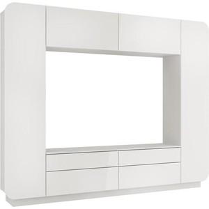 Шкаф многоцелевого назначения Олимп Лаванда - 2 Н белый/белый глянец снег фото