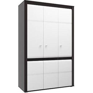Шкаф для одежды 3-х дверный Олимп Камила венге/ДВПО венге/белый глянец снег